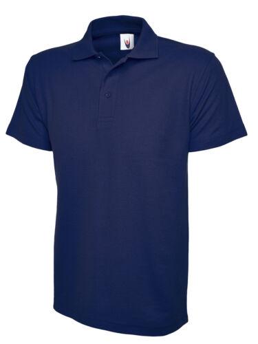 6XL Work Wear Casual Leisure Plain Tee Unisex Mens Active Pique Polo Shirt XS
