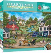 MASTERPIECES HEARTLAND PUZZLE ROADSIDE GOSSIP BONNIE WHITE 550 PCS #31682