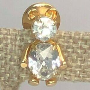 Vintage-Avon-Rhinestone-Teddy-Bear-Tie-Pin-Brooch-Tack-Pin