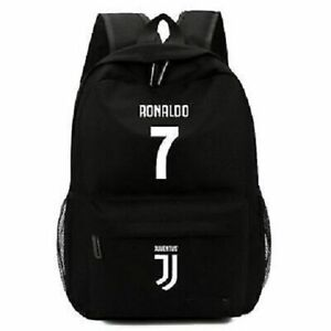 New-Juventus-Logo-Black-Backpack-Cristiano-Ronaldo-7-Shoulder-Canvas-School-Bag