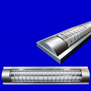 2x18W-Rasterleuchte-Pendelleuchte-Deckenleuchte-Buerolampe-mit-Leuchtstofflampen