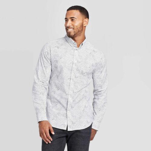 Men/'s Slim Fit Stretch Poplin Long Sleeve Button~Down Shirt Goodfellow /& Co  XXL