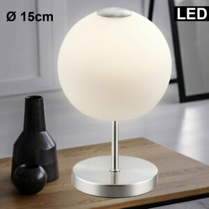 Design Tisch Leuchte Schlaf Zimmer Glas Kugel Lese Lampe Muster Beleuchtung