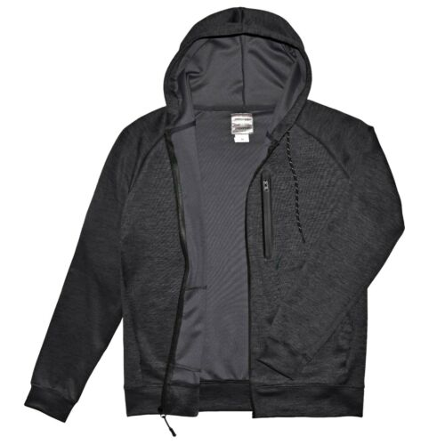 Victory Outfitters Men/'s Active Space-Dye Zip-Up Hoodie with Tech Pockets