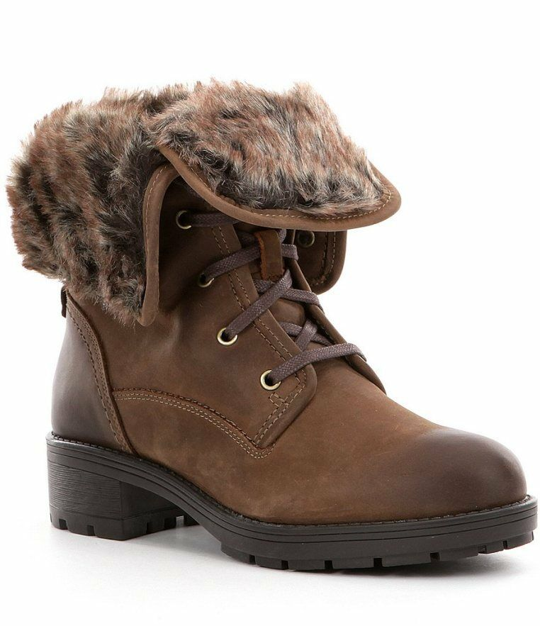 Clarks Ladies Winter Ankle Boots Reunite UP GTX Brown Leather UK 4.5