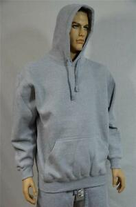 ac4f294ad1d Details about 1 NEW PRO CLUB HEAVY WEIGHT PULLOVER FLEECE HOODIE SWEATSHIRT  GRAY S-7XL 1PC