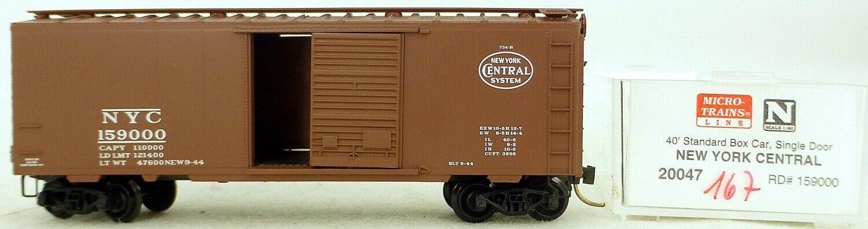 Micro Trains Linea 20047 Nyc 159000 40' st Boxcar 1 160 Emb.orig  H167 Å