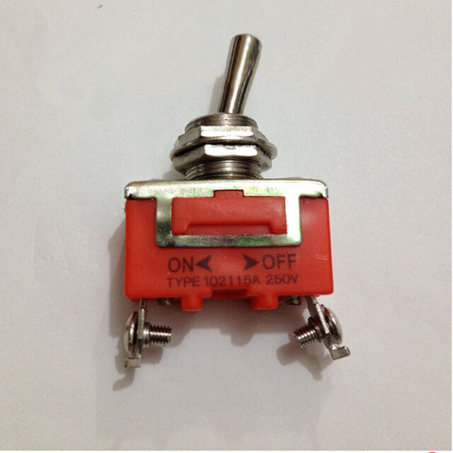 12mm Panel Mount SPST ON/OFF 2 Position Toggle Switch AC 250V 15A High Quality