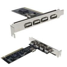 Ultimo USB 2.0 4 Porte 480Mbps alta velocità Ciao? HUB PCI Scheda Controller