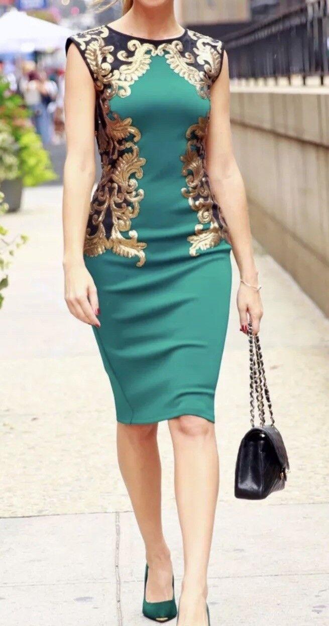 Tadashi shoji Sequin Neoprene Dress Size Small NWT