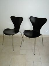 ancienne chaise 3107 design ARNE JACOBSEN original FRITZ HANSEN 1958 noir