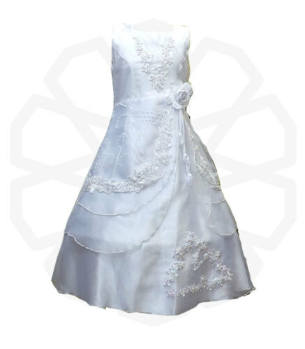 Flower Girls Formal Layered Wedding Dresses Bridesmaid Party Dress Age 4 to 15 Y