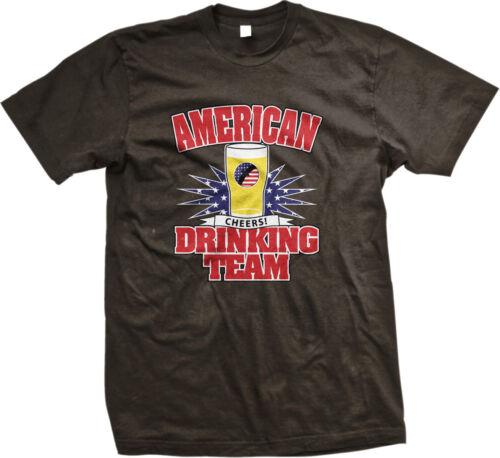 American Drinking Team Beer Pride Party  Mens T-shirt