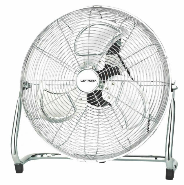 Laptronix 140W 20 inch High Velocity Portable 3 speed Industrial Air Cooling Fan