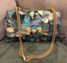 Valentino Va-Va-Voom Laser-Cut Canvas Butterfly Bag w/ Knuckle Handle