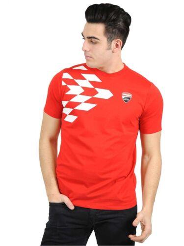 16 36008 2016 OFFICIAL DUCATI Grille imprimé rouge T-shirt