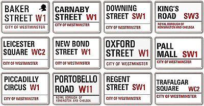 FRIDGE MAGNET - London Streets (Various Designs) - Large UK Road Signs