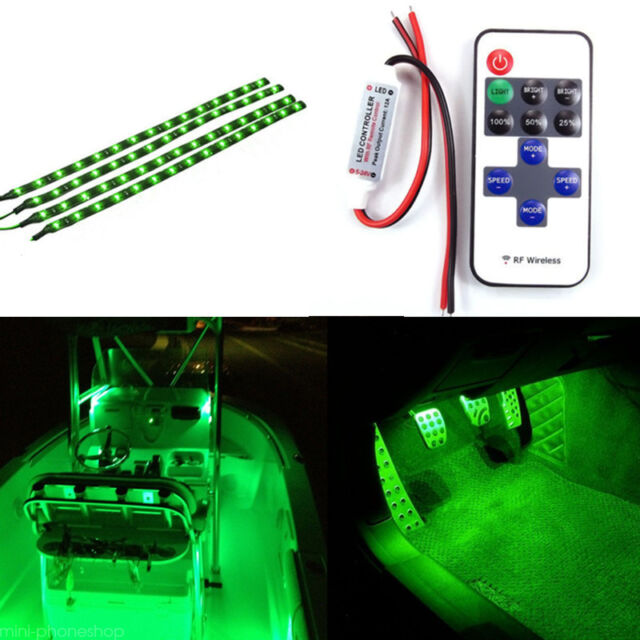 Green Led Light Strips Adorable A Set Boat Wireless Remote Control Motorcycle Green LED Light Strip