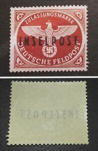 Germany 1944 Dt.Reich Feldpostmarke - Insel Rhodos Mi.Nr.9 INSELPOST - unused