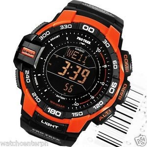 Casio-ProTrek-PRG270-4D-Triple-Sensor-Version-3-0-Black-Orange