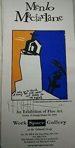 WHIMSICAL-Silkscreen-SHAMANIC-serigraph-POSTER-1994-artist-Menlo-Macfarlane
