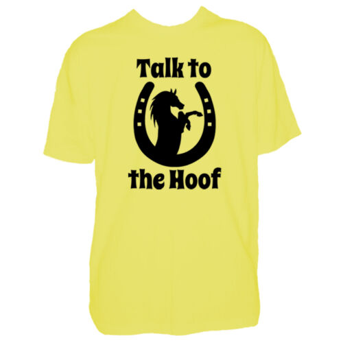 Talk To The Hoof Mens Horse T Shirt Equestrian Rider Lover Pony Tshirt