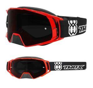 TWO-X Rocket Crossbrille Motocross Cross Enduro LUNETTES Noir Miroir bleu