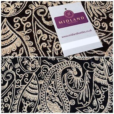 """Black Shimmer speckle Micro velvet dress fabric 44/"""" ME817 Mtex"""