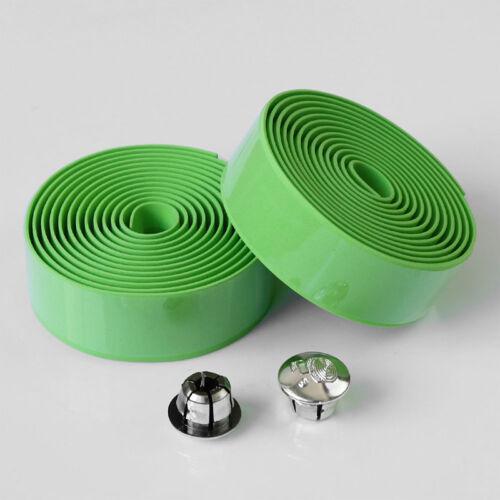 Handlebar Anti-Skid Bicycle Bike Sports Cork Grip Wrap Ribbon Handle Tape /& Plug