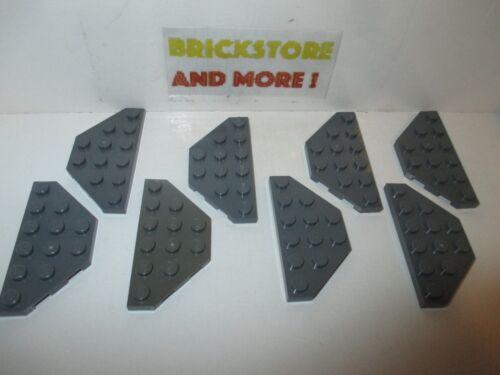 Wedge Aile Plate 3x6 Cut Corners 2419 Dark Bluish Gray Lego Choose Quantity