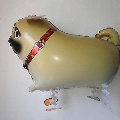 2015 Hot Funny Pug Dog Animal Walking Aluminum Helium Balloons Kids Toys AT AU
