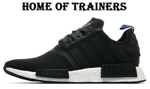 9b7d105191e34 Adidas NMD R1 Black And Blue For Men s Trainers All Sizes
