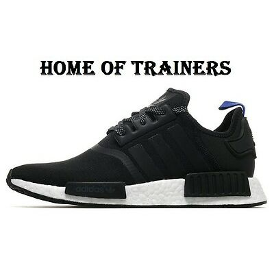 Adidas NMD R1 Black And Blue For Men\u0027s Trainers All Sizes