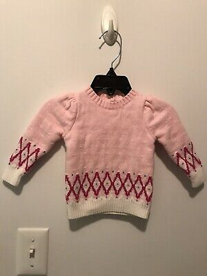 Infant Sweater White With Blue Flecks