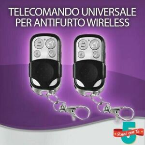 KIT 2 TELECOMANDO UNIVERSALE SUPPLEMENTARE ALLARME ANTIFURTO CASA WIRELESS GSM