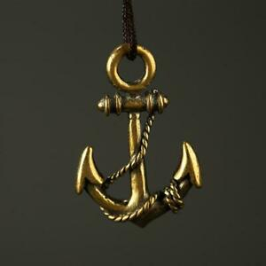 Antique-Brass-Anchor-Pendant-Small-Statue-Pocket-Gifts-Ornaments-Handcraft-DIY