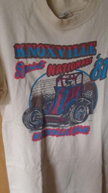 Vtg. 1981 Knoxville Sprint Nationals T-Shirt, Medium 38-40, 100% Cotton, Hanes