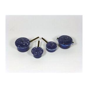 Creal 72422 Casseroles Bleu/blanc 8-tlg 1:12 Pour Maison De Poupée Nouveau! #-afficher Le Titre D'origine