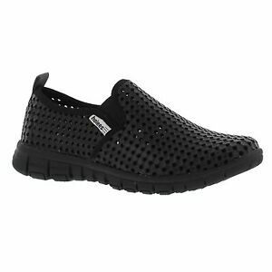 Holees Original Mens Black Slip On Shoes with Memory Foam Insoles Size UK 7-12