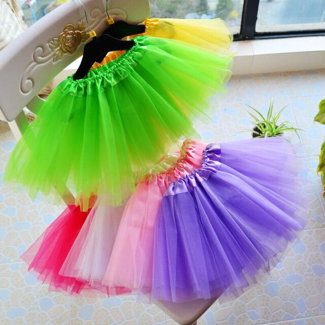 3 Layers Girls Tutu Skirt LADY WOMEN GIRLS KIDS  Fancy Dress Party Sparkling BIG