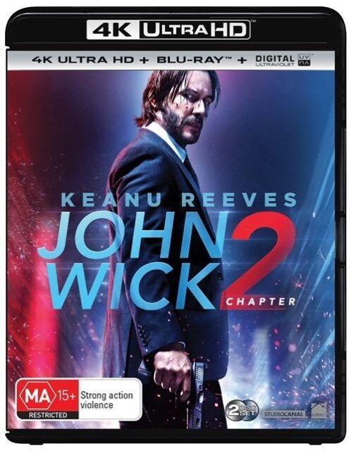 John Wick - Chapter 2 4K UHD (Blu-ray, 2017, 2-Disc Set) Brand new & sealed