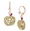 US-Seller-Betsey-Johnson-Crystal-Green-Apple-Drop-Earrings-Authentic thumbnail 5