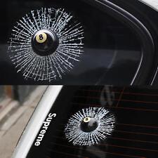 3D Smashed Snooker Pool 8 Ball Broken Window Car Sticker Funny Joke Prank (506)