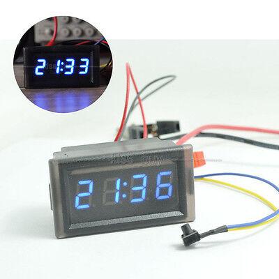 Waterproof Digital LED Uhr clock Watch timer 12v 24V Car Motor Scooter Bike Auto