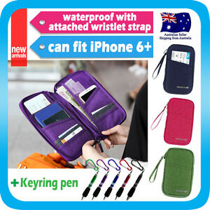 Travel-Wallet-Passport-Holder-Card-Organizer-Bag-iPhone-7-Case-Pouch-Strap-Pen