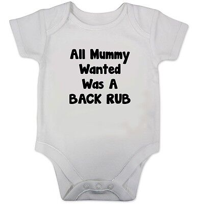 Baby Girls All Mummy Wanted Funny Rompersuit
