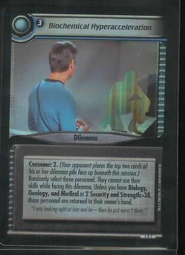 Star Trek CCG Reflections 2.0 FOIL Biochemical Hyperacceleration 4R7