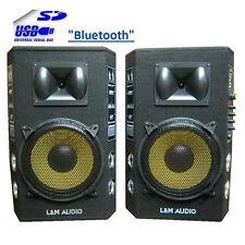COPPIA 2 CASSE AMPLIFICATE ATTIVE DJ KARAOKE USB/SD WIRELESS BLUETOOTH 200W