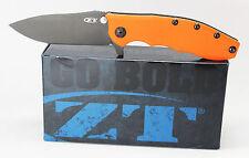 Zero Tolerance 0562ORBLK Hinderer Slicer Pocket Knife Orange G10 CTS-204P Blade