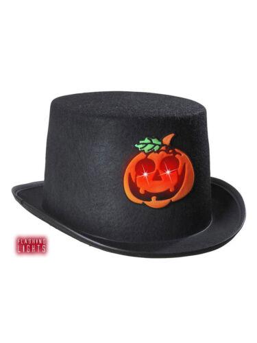 Filzzylinder mit Halloween Kürbis blinkend Fasching